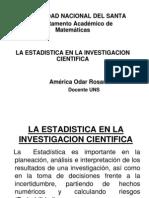 La Estadistica en La Investigacion Cientifica-America 2011