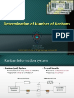 Determination of No of kanbans