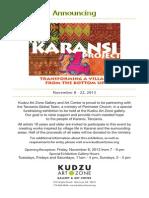 Mark Your Calendars Nov 8th -22nd for The Kudzu Art Show Presents