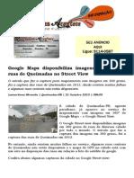 Google Maps Disponibiliza Imagens de Algumas Ruas de Queimadas No Street View