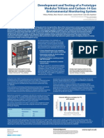 Development and Testing of the Liquid Scintillation Counter Incorporated in a Prototype Modular Tritium and Carbon-14 Gas Environmental Monitoring System