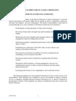 Altera Corporatfe Governance Guidelines
