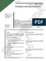 NBR 10522 NB 938 - Abreviacao Na Descricao Bibliografica - Norma Cancelada