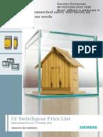 Siemens Pricelist 1-11-2010