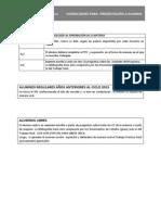 Condiciones Examen 2013