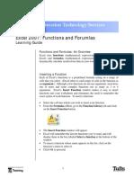Excel 07 Functions Formulas