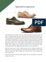 Jual Sepatu Kulit Pria Original Murah