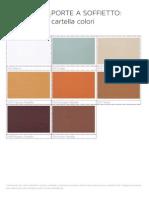 Cartella colori porte a soffietto Tenda Sistem