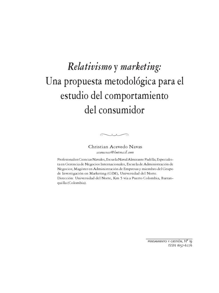 Relativismo y Marketing