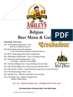 Ashley's 2013 Belgian Beer Festival program