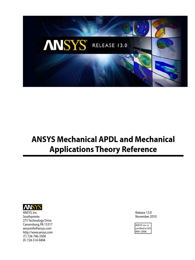 ansys theory reference for the mechanical apdl and mechanical rh scribd com ANSYS Fluent ANSYS Fluent