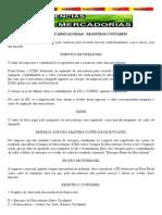 COMPRA DE MERCADORIAS - REGISTROS CONTÁBEIS