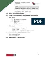 u.t. 9. Las Tecnicas Pictoricas. Generalidades y Clasificacion