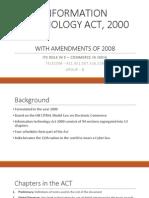 Information Technology Act, 2000 Amendment 2008