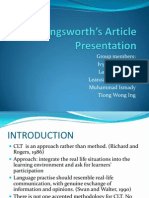 Cunningsworth's Article Presentation