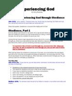 ExperiencingGod9 Through Obedience
