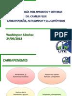 Washington Sánchez - CARBAPENEMES, ASTREONAM Y GLUCOPÉPTIDOS