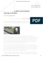 Top 10 People Who Committed Suicide In Public - Listverse