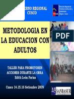 3. Metodologia en La Educacion Con Adultos.
