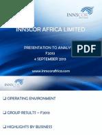 InnscorAfrica Analyst Presentation - June 2013