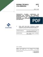 Ntc6-Productos Planos Laminados Encaliente