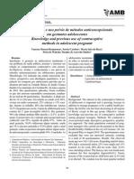 Conhecimento e uso prévio de métodos anticoncepcionais em gestantes adolescentes;2011