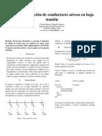 Cálculo de sección de conductores aéreos en baja tensión