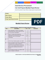 Checklist Monthly Project Review Civil Projects
