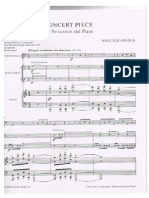 Arnold - Concert Piece for Percussion and Piano