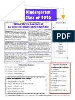 Kinder Newsletter Oct 21 2013