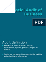 Social Audit of Business
