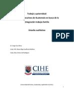 Estudio cualitativo sobre Trabajo y Paternidad en Guatemala