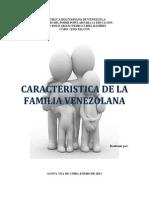 Caracteristica de La Familia Venezolana