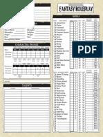 Warhammer Fantasy Roleplay 2nd Edition editable character sheet