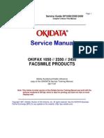 Oki 1050, 2350, 2450 Service Manual