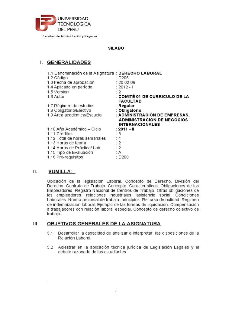 Derecho Laboral (Por Objetivos)