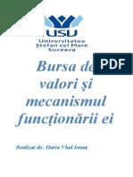Bursa de Valori Si Mecanismul Functionarii Ei