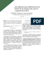 diseño de una guía didáctica para alfabetización en el aprovechamiento de la energía solar, para el segmento K12-K14