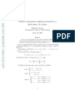 Number of Binomial Coefficients Divide by a Fixed Power of Prime