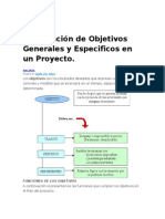Formulación de Objetivos Generales y Especificos en un