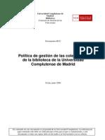 Politicas de Madrid