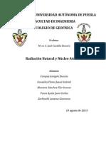 Reporte radiometrica, Radiacion natural y nucleo antómico