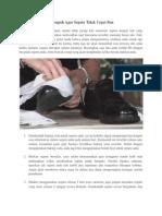 Tips Ampuh Agar Sepatu Tidak Cepat Bau