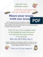 Share your Treats with our Troops