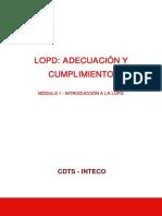 Modulo1 Curso LOPD Adecuacion Cumplimiento