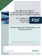 SGT-800 Maintainability Improvements