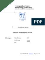 Project Report - Rapport - Application Web C%23 - Elie MATTA