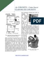Mezcladora de Concreto Como Hacer Una Mezcladora de Concreto