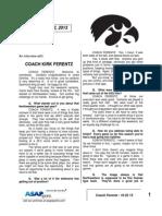 Coach Ferentz - 10 22 13