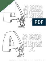 La lettera A da colorare classe prima scuola elementare